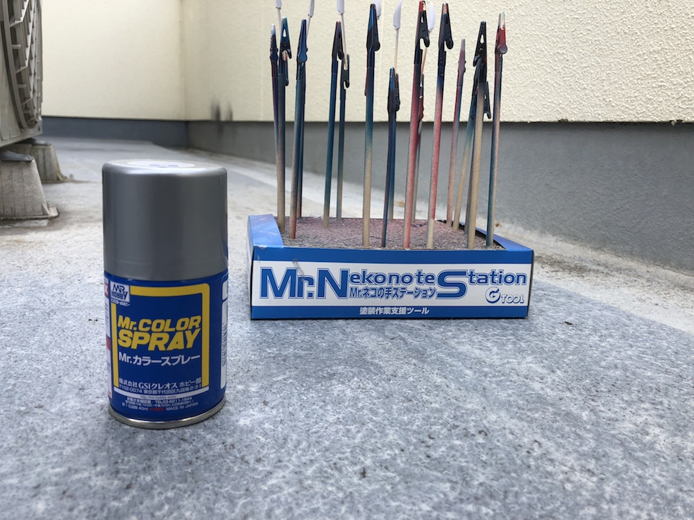 ガンプラ初心者塗装入門|サーフェイサーと缶スプレーで部分塗装に挑戦