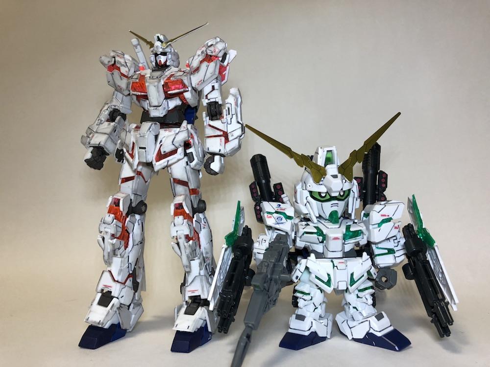 フルアーマーユニコーンガンダム ガンプラレビュー!【RG/BB/MG/HG】